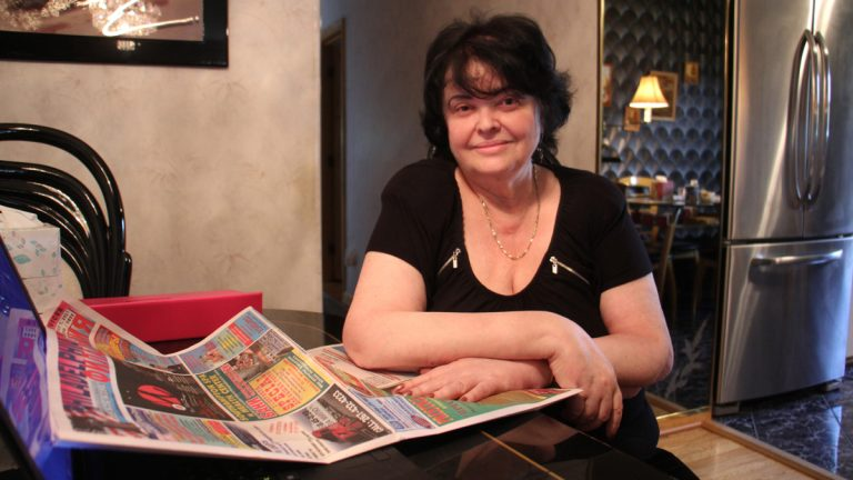 Irina Gitman, who immigrated from the Ukraine, launched a Russian language weekly newspaper from her Northeast Philadelphia home in 1994. (Emma Lee/WHYY)