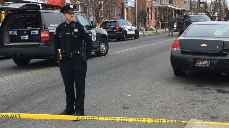 Police investigate a double homicide on N. Market St. in Wilmington on Tuesday morning. (File/WHYY)