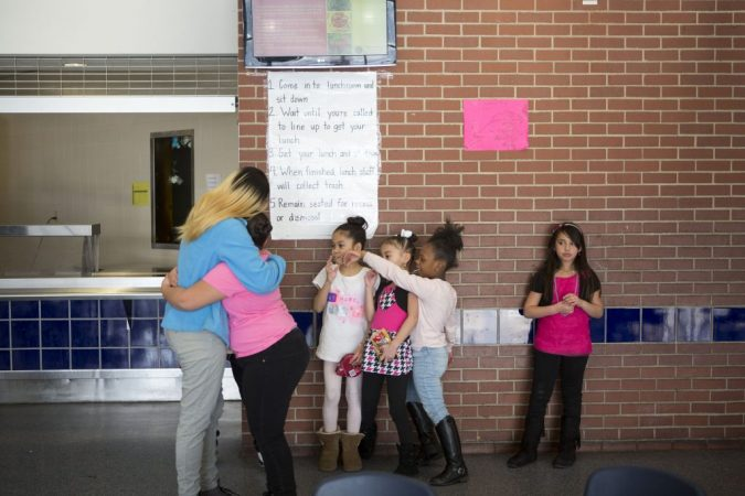 "Savannah calls her after school job with Providence her ""peace place."" (Jessica Kourkounis/For Keystone Crossroads)"