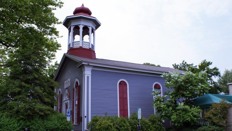 The home of Cape May Stage, in a former church and community center. East Lynne Theater Company, which produces inside a working church nearby, is nearby. Together, they make up the South Jersey coast's remaining two professional theater companies.