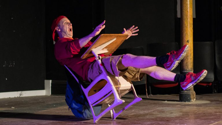 Terry Brennan in Tribe of Fools' production of 'School Play.' (Photo courtesy of Nick Mazzuca)