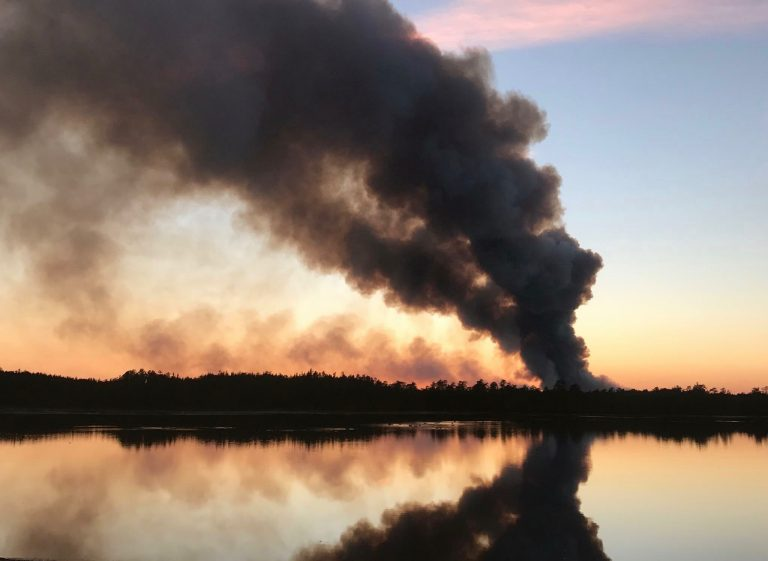 Smoke from yesterday's forest fire in Manchester. (Image: JSHN contributor Mike Logger)