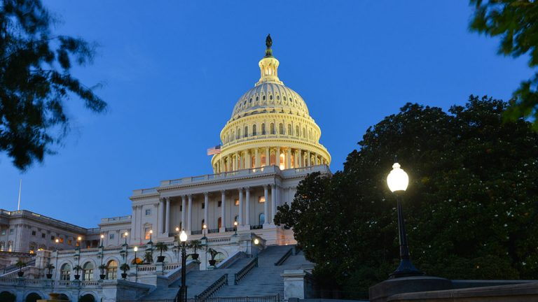U.S. Capitol building in the evening. (Big Stock image)