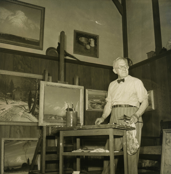 George Sotter in his studio