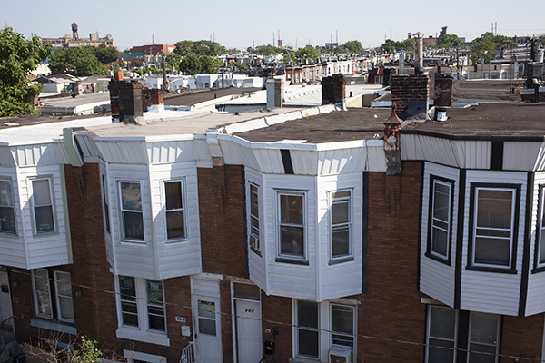 Charming Philadelphia Used To Have Mostly Black Roofs, Which Absorb Heat. Slowly,  Roofs Are Being Converted To Reflective Surfaces, Though Some Neighborhoods  Are ...