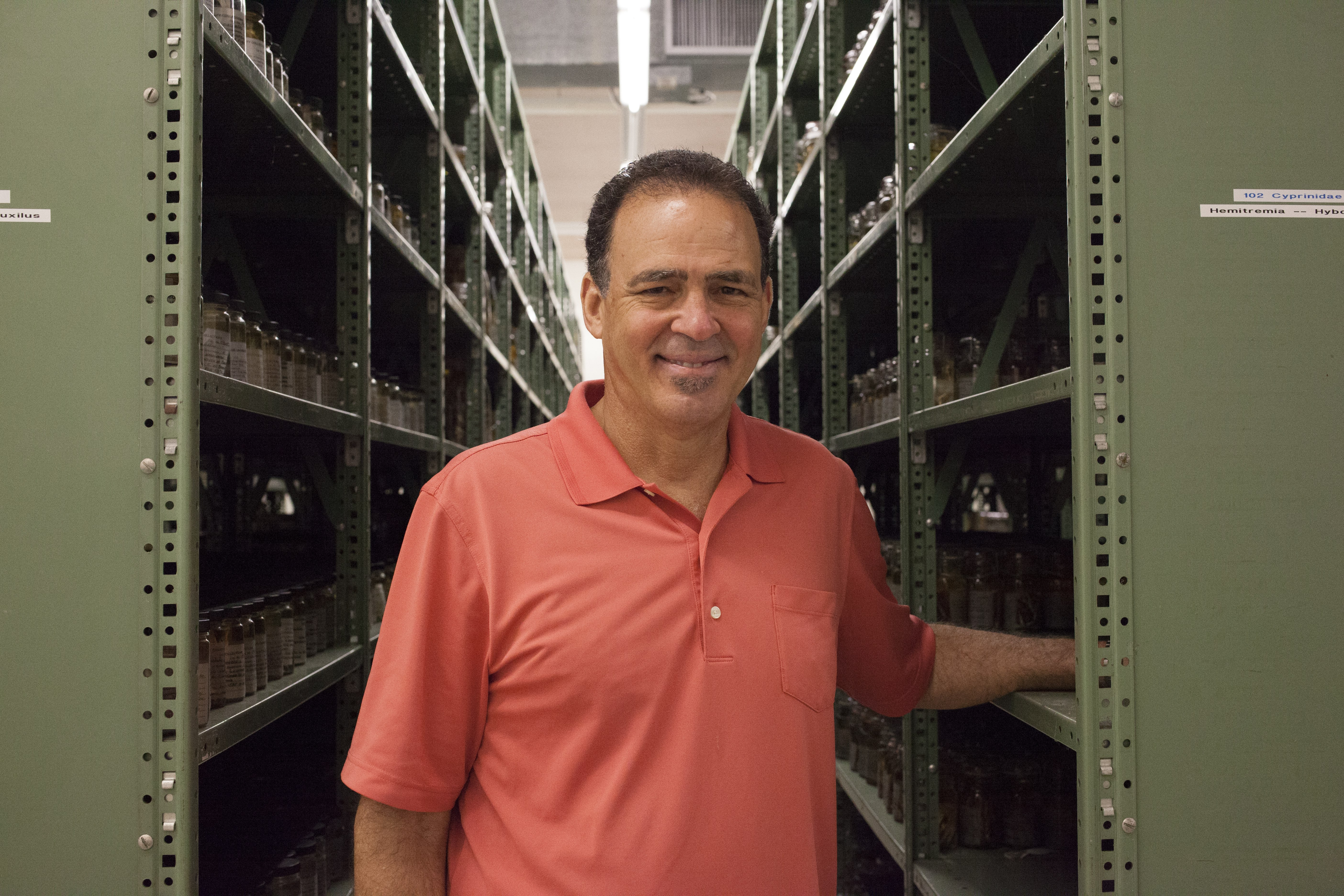 Hank Bart manages the fish collection at Tulane University, where much of the ULM collection will end up. He's worried about the fate of Tulane's collection after he retires, as well, but is taking steps to preserve it. (Irina Zhorov/The Pulse)