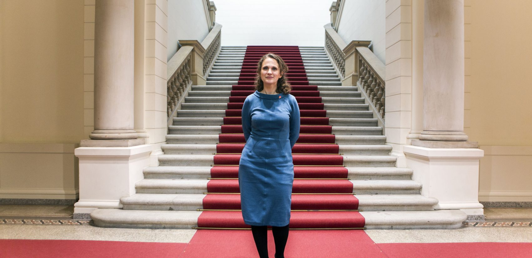 </b> Maja Lasić represents Wedding in Berlin's Parliament for the Social Democrats, the county's mainstream left-wing party. (Jessica Kourkounis/For Keystone Crossroads)