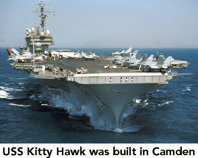 USS Kitty Hawk CV-63 made in canden