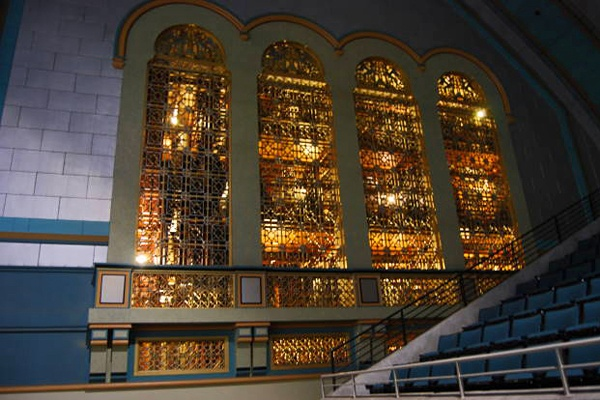 <p><p>The Midmer-Losh organ, made of eight chamber and 33,000 pipes was built into the walls of Boardwalk Hall during the Great Depression.  (Mary Cummings Jordan/WHYY)</p></p>