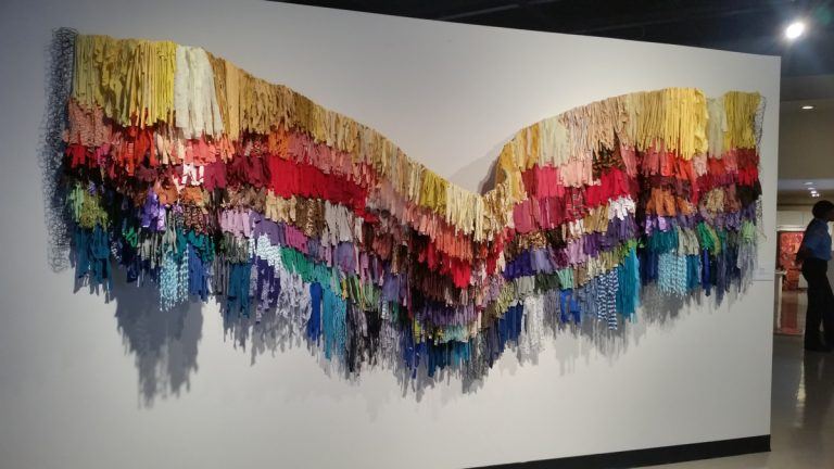 Amber Robles-Gordon's 'my rainbow is enuf'  2014. (Peter Crimmins/WHYY)