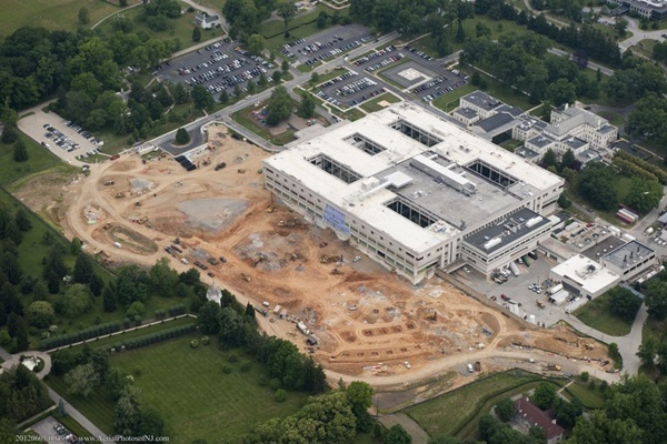 <p><p>An aerial shot shows the extent of the area now under construction. (photo courtesy Nemours)</p></p>