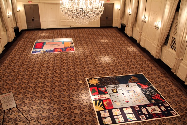<p><p>Portions of the Philadelphia AIDS Quilt are on display at the 25th anniversary benefit for AIDS support service provider Calcutta House, Nov. 29, 2012. (Marta Rusek/for NewsWorks)</p></p>