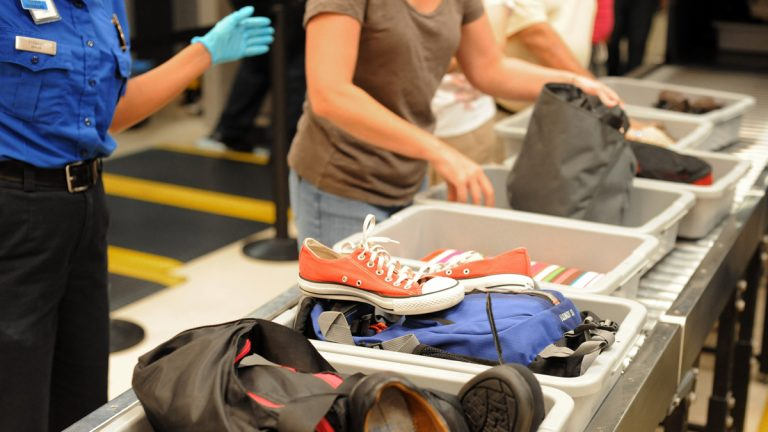 Going through an airport's Transportation Security Administration checkpoint can give travelers a lot to cope with. (AP Photo/Erik S. Lesser, file)