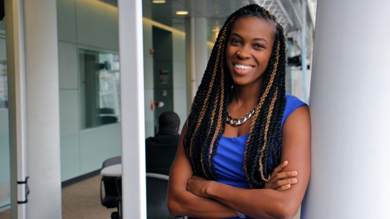 Amber Hikes is Philadelphia's new director of the Office of LGBT Affairs. (Emma Lee/WHYY)