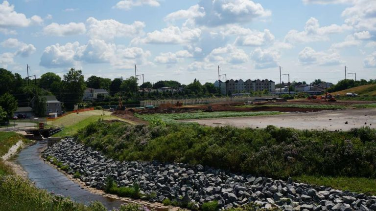 The BoRit Superfund site in Ambler, Pennsylvania, is nearing completion. (Jessica McDonald/WHYY, file)