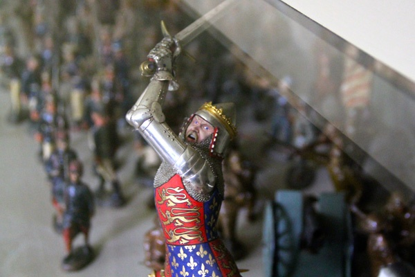 Andrew Wyeth's collection of more than 1,200 military figurines is on display throughout the home. (Emma Lee/for NewsWorks)