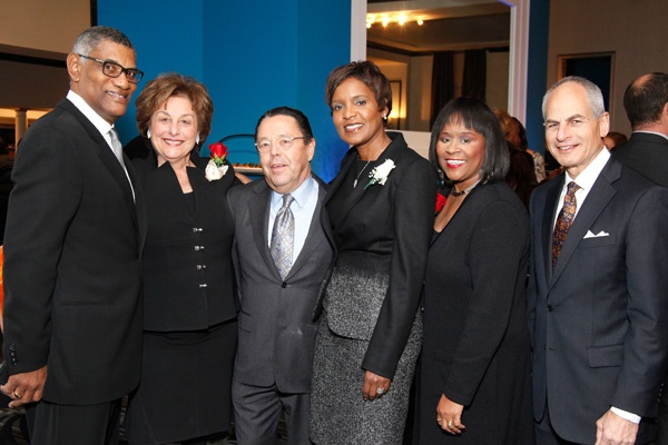 <p>&lt;p&gt;&lt;br /&gt;Robert Turner (left), dinner chair Harriet Weiss of CRW Graphics, ADL regional board chair Marc Kaplin, Americanism Award honoree Rosemary Turner, dinner chair Renee Amoore of the Amoore Group, and regional director Barry Morrison&lt;/p&gt;</p>
