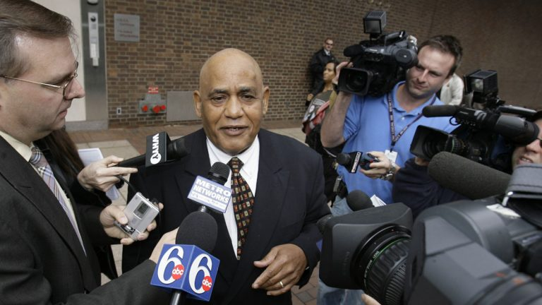 T. Milton Street, a brother of former Philadelphia Mayor John F. Street, leaves U.S. District Court in Philadelphia in November 2006.  (AP file photo)