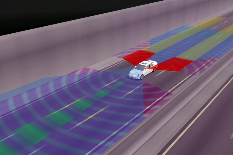 GM envisions using an all-around collision warning system for driverless cars. (AP Photo/General Motors, ho)