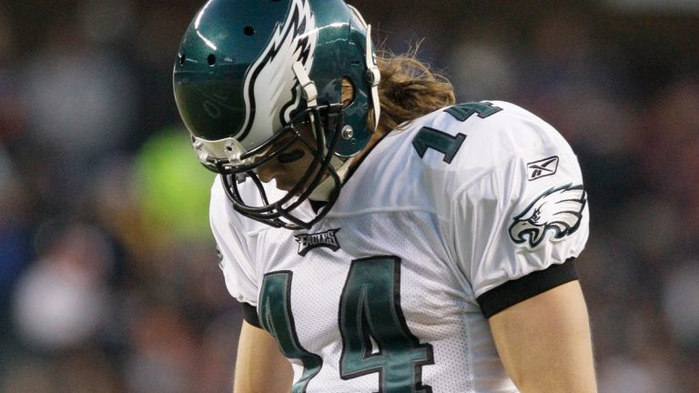 Philadelphia Eagles wide receiver Riley Cooper (14) reacts in the first half of an NFL football game against the Chicago Bears in Chicago, Sunday, Nov. 28, 2010. (AP Photo/Nam Y. Huh)