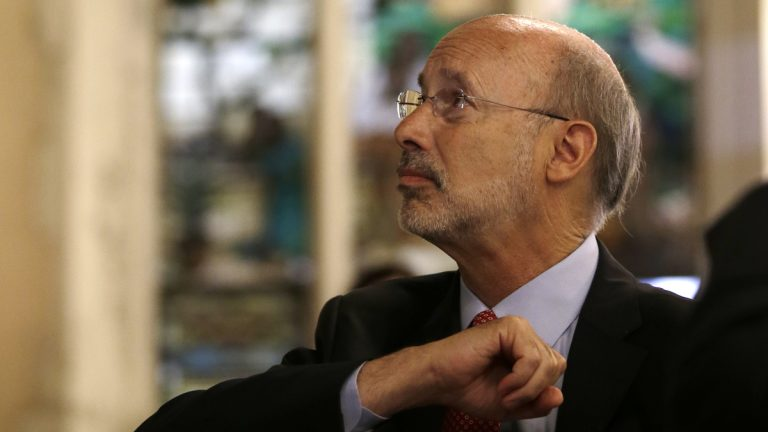 Pennsylvania Gov. Tom Wolf has had a tough week. In fact, the GOP-controlled Legislature has been batting the governor around like a chew toy. (Matt Slocum/AP photo)