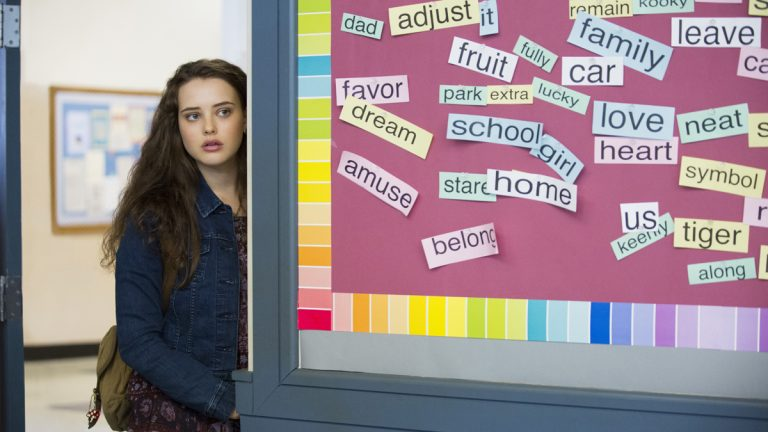 This image released by Netflix shows Katherine Langford in a scene from the series, '13 Reasons Why,' about a teenager who commits suicide. The stomach-turning suicide scene has triggered criticism from some mental health advocates that it romanticizes suicide and even promoted many schools across the country to send warning letters to parents and guardians. The show's creators are unapologetic, saying their frank depiction of teen life needs to be 'unflinching and raw.' (Beth Dubber/Netflix via AP)