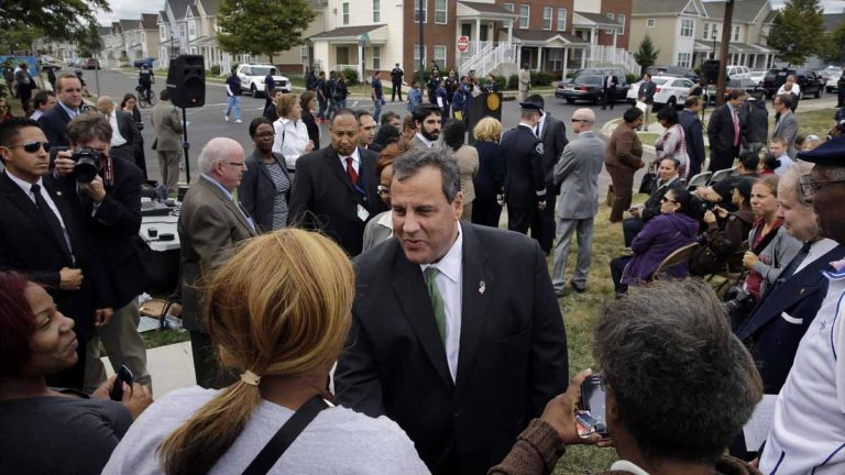 In September, New Jersey Gov. Chris Christie greets residents at a gathering in Camden. Under Christie, New Jersey has paid more than $2 billion in state tax breaks since 2014, often to corporations with notable political connections and at least one developer who already owed millions of dollars in unpaid state loans, an Associated Press review found. (AP file photo)