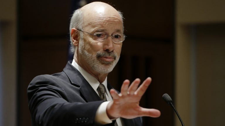 The mission of Gov. Tom Wolf's new PAC, Rebuild Pennsylvania, is to promote his agenda and support candidates allied with him. (AP photo/Matt Rourke)
