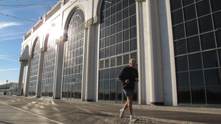 In this Nov. 14, 2013, photo, a jogger runs past The Atlantic Club Casino Hotel in Atlantic City N.J. Atlantic in 2013. According to published reports, a Devon, Pennsylvania company has purchased the shuttered facility for residential development. (AP file photo)