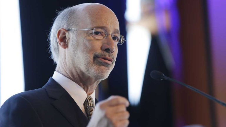 Gov. Tom Wolf, who has said he'll seek a 5 percent tax on natural gas drillers, intends to rework Pennsylvania's corporate-tax infrastructure. (AP file photo)