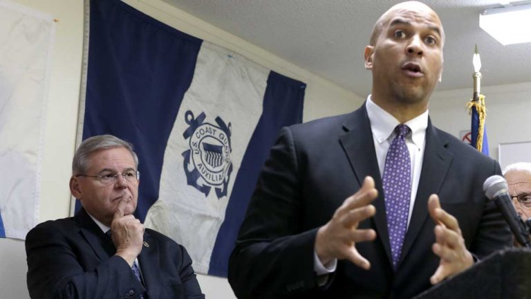 U.S. Sens. Bob Menendez, left, and Cory Booker of New Jersey are among federal legislators calling for changes at FEMA in the wake of fraud allegations. (AP file photo)