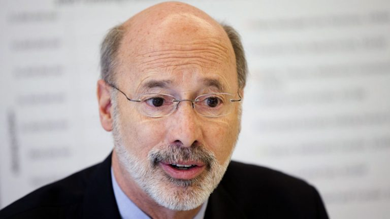 Pennsylvania Gov.-elect Tom Wolf discusses the state budget during a news conference at the Free Library of Philadelphia in December. Pennsylvania is facing a $2.3 billion shortfall for the fiscal year beginning in July, according to a report by the governor-elect's transition team.(AP file photo)