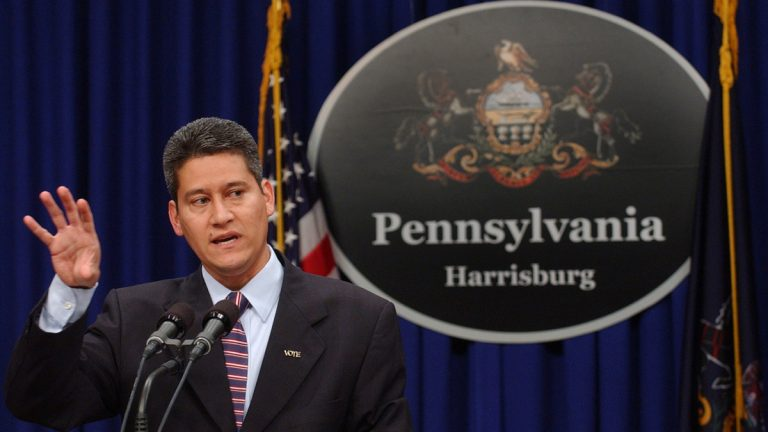 Pennsylvania Secretary of State Pedro Cortés says the new online voter registration process is making it easier to sign up to cast a ballot. Monday is the last day for Pennsylvanians to register to vote in the April 26 primaries. (AP file photo)