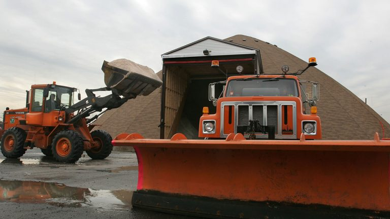 With a lack of wintry weather, New Jersey has plenty of salt available for