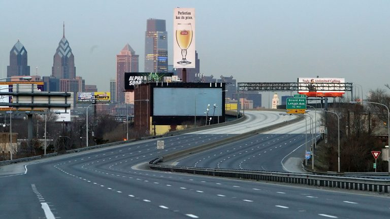 No, this isn't a shot of Philadelphia after the zombie apocalypse: in 2008, a two-mile stretch of I-95 closed to allow for emergency repairs. An elevated part of the highway was supported by a pillar that had developed a four-foot crack. Pennsylvania ranks second in the nation for structurally deficient bridges. (AP Photo/Joseph Kaczmarek)