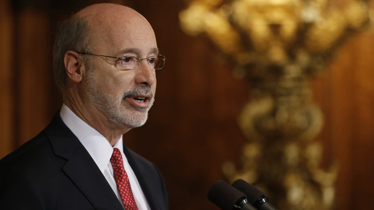 Pennsylvania Gov. Tom Wolf says budget talks are proceeding in a