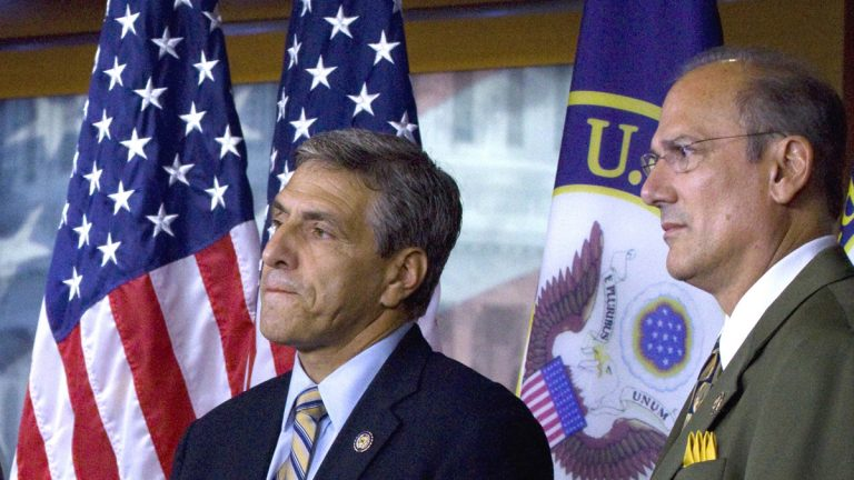 GOP Congressmen Lou Barletta (left) and Tom Marino, who represent districts in Central and Northeast Pennsylvania, are on President-elect Donald Trump's transition team. (AP file photo)