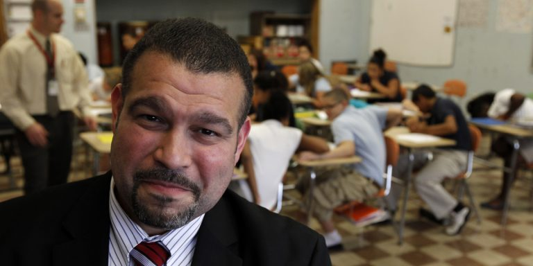 Pennsylvania Department of Education Secretary Pedro Rivera says his department has been under pressure to come up with cost-cutting measures. (AP file photo)