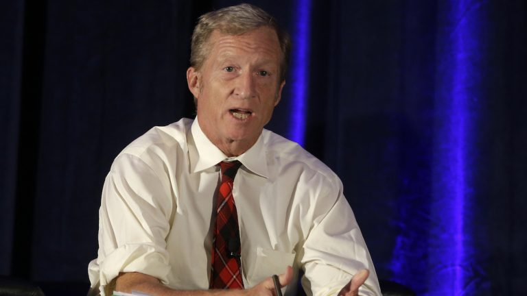Former hedge fund manager Tom Steyer is investing $7.5 million in energizing young voters in Pa. and other swing states. (AP Photo/Rich Pedroncelli,File)