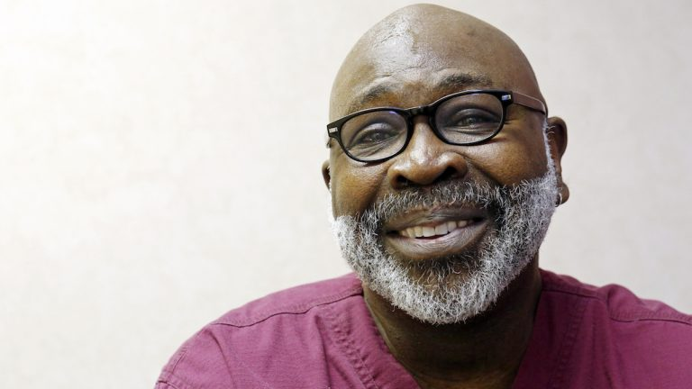 FILE - In this April 15, 2013 photo, Dr. Willie Parker, smiles in Jackson, Miss. Parker, a physician at Mississippi's only abortion clinic is praising the end of a legal fight over a state law that threatened to close the facility by setting a hospital-privileges requirement the clinic couldn't fulfill. (AP Photo/Rogelio V. Solis, File)