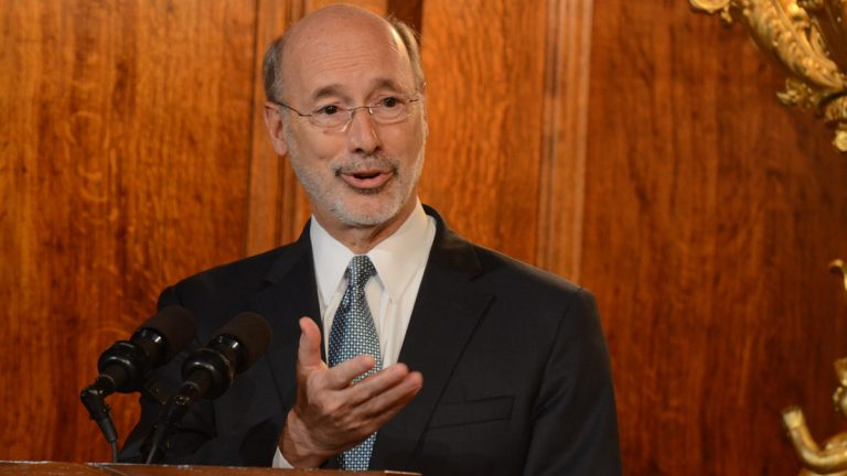 Pennsylvania Gov. Tom Wolf has let the state budget become law without signing it. Lawmakers have still not agreed on a revenue package to ensure the bill is funded. (AP Photo/Marc Levy)
