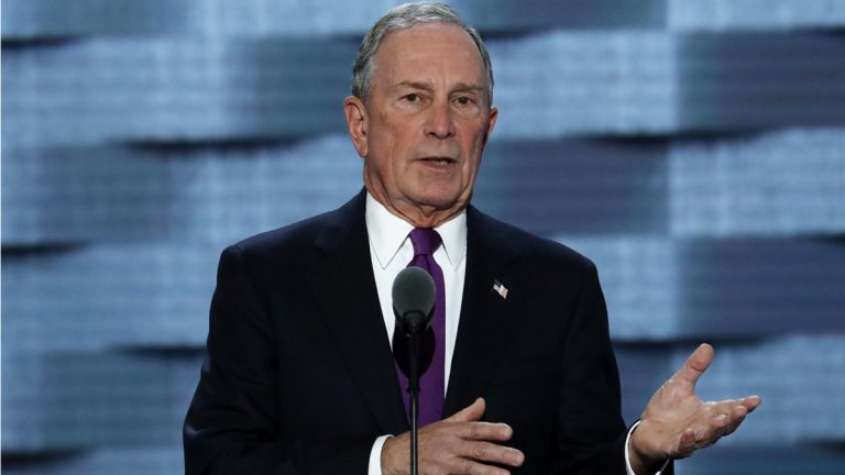Former New York City Mayor Michael Bloomberg is supporting Republican U.S. Sen. Pat Toomey's bid for re-election. Bloomberg spoke last week at the Democratic National Convention. (AP Photo/J. Scott Applewhite)