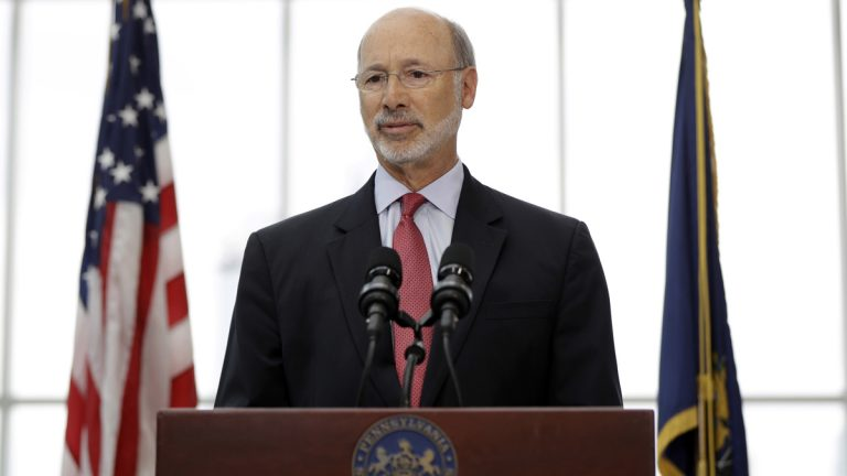Gov. Tom Wolf reiterated a call Wednesday for measures to address Pennsylvania's opioid abuse crisis. He wants  doctors to use the state's prescription drug-monitoring program more effectively; improve medical school education on opioids; and limit opioid prescription overall. (Matt Rourke/AP Photo)