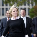 Gov. Chris Christie's former deputy chief of staff Bridget Anne Kelly leaves Martin Luther King Jr. Courthouse Monday, Oct. 17, 2016, in Newark, N.J. (Mel Evans/AP Photo)