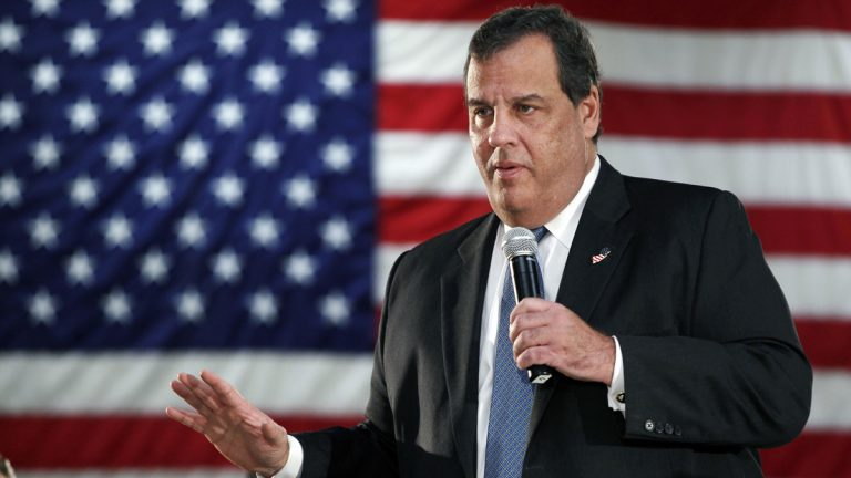 In October, New Jersey Gov. Chris Christie addresses a gathering at a public forum, maintaining that he has no recollection of any of his aides telling him about lane closures on the George Washington Bridge. A state judge ruled Thursday that a criminal complaint against the governor over the closures can go forward. (AP file photo)