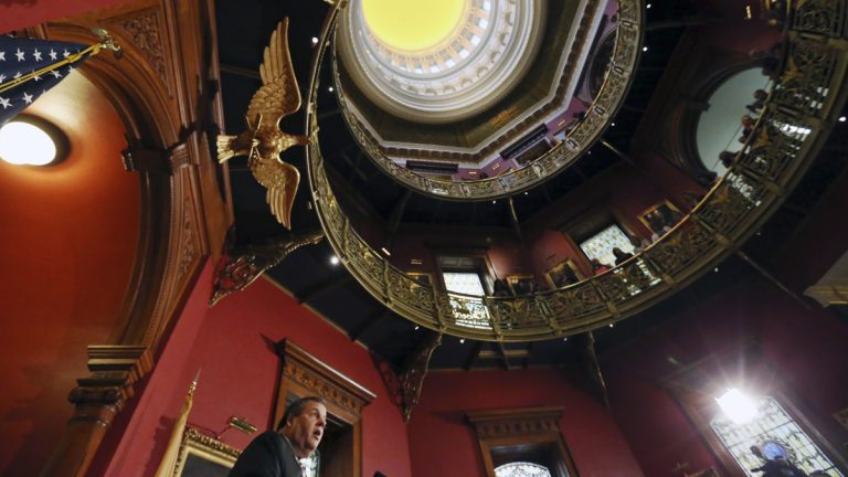 Republican Gov. Chris Christie's $300 million statehouse renovation plan will continue, following a ruling Wednesday by a New Jersey judge. (AP file photo)
