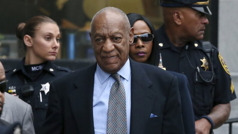 In this Nov. 1, 2016 file photo, Bill Cosby leaves after a hearing in his sexual assault case at the Montgomery County Courthouse in Norristown, Pa. (AP Photo/Mel Evans, File)