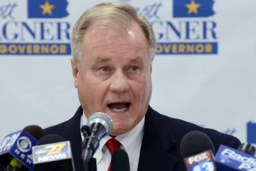 York County Sen. Scott Wagner, who is seeking the Republican nomination to run for governor in Pennsylvania, spoke at a gathering of natural gas-drilling advocates Monday.(AP Photo/Marc Levy)