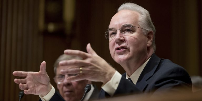 Health providers in the region have various reactions to the confirmation of Dr. Tom Price, a former congressman, as Health and Human Services secretary. (Andrew Harnik/AP Photo)