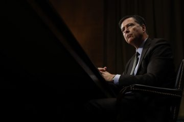 FBI Director James Comey listens while testifying on Capitol Hill in Washington, Wednesday, May 3, 2017, before the Senate Judiciary Committee hearing: